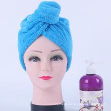 Toalla de pelo de microfibra de alta calidad, turbantes de toalla de secado de pelo, banda de pelo de toalla