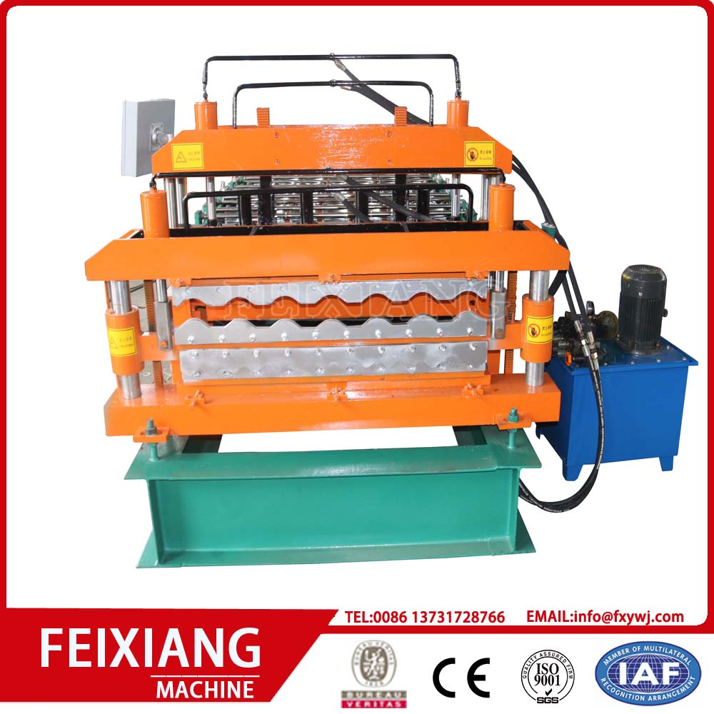 Roof and Wall Glazed Tile Roll Forming Machine