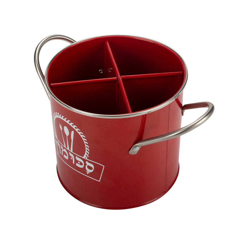 Red Fork And Knife Utensil Holder