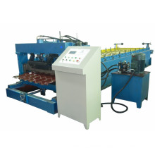 2015 galvanized steel roof tile sheet roll forming machine with PLC control