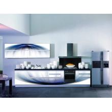 El gabinete más barato de la cocina del vidrio 3D