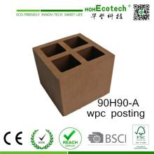 Hollow Composite Posting Anti-UV Anti-Peeling WPC Pergolas Pillar