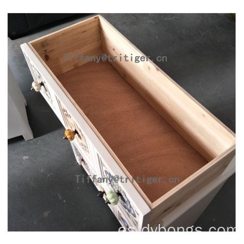 Unique new design decorative antique fir wooden cabinet bed stand
