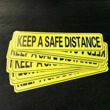 Keep A Safe Distance Reflective Magnet Car Sticker
