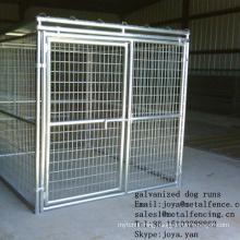 Solid roof 5'x10'x6' anti-rust dog runs