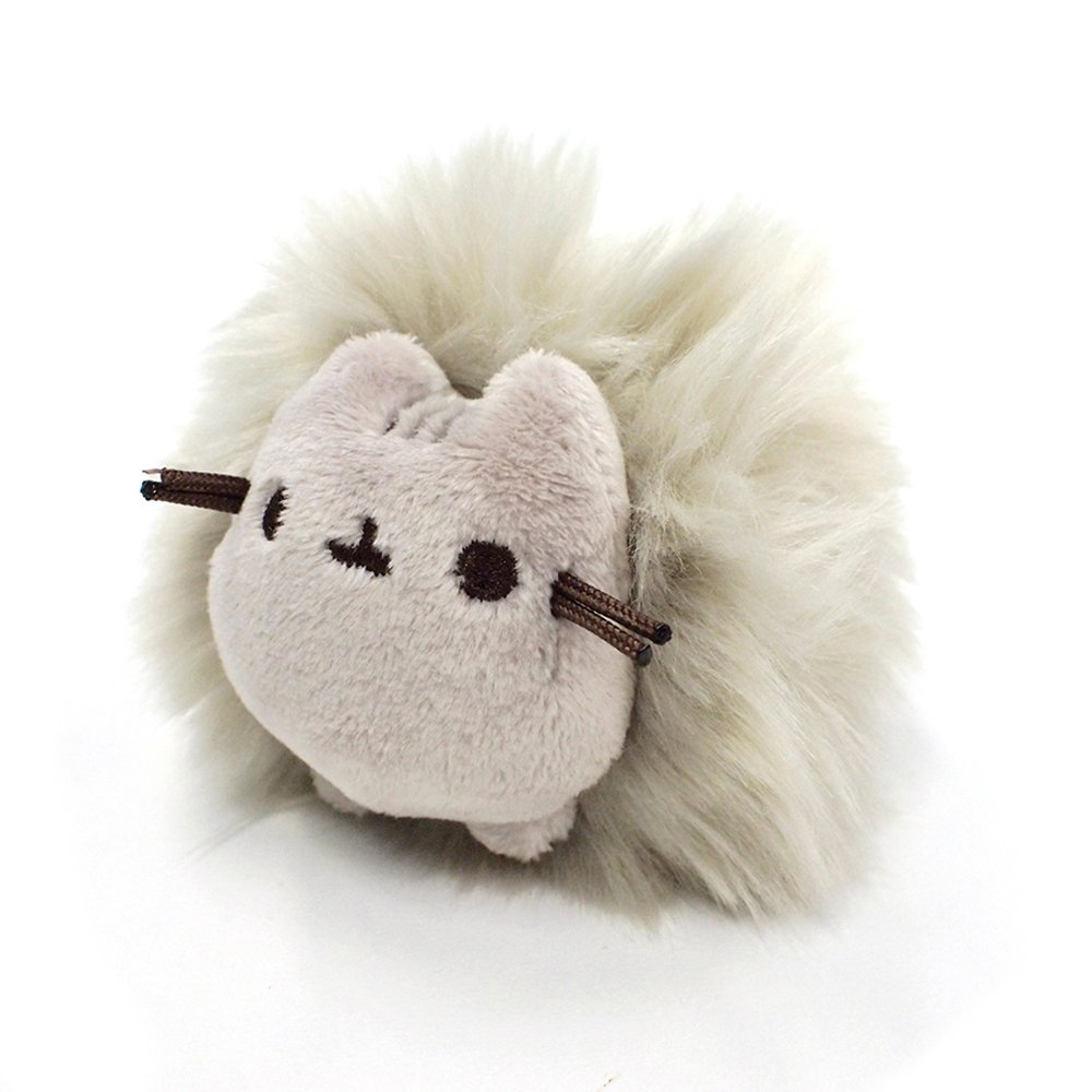 Plush Cat Pom Poof Key Chain 1