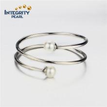 10.5-11mm AAA cerca de la plata esterlina de plata de moda perla pulsera para las mujeres
