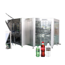 Carbonated Washing Filling Capping Bottling Plant