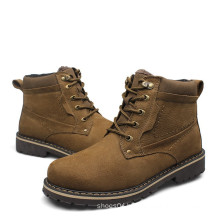 men's ankle boots shoes genuine cow leather boots for men