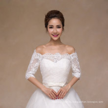 off The Shoulder Long Sleeve Bridal Shawl Wedding Jacket