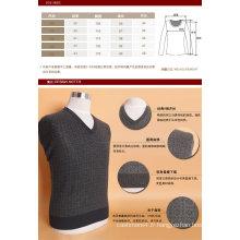 Bn1505 Yak laine / cachemire col v pull à manches longues chandail / vêtements / vêtement / tricots