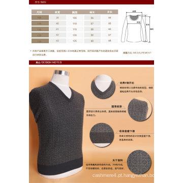Bn1505 Iaque Lã / Caxemira V Pescoço Pulôver Manga Comprida Camisola / Roupas / Vestuário / Malhas