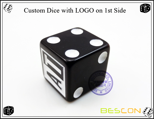 Custom Dice with LOGO on 1st Side2