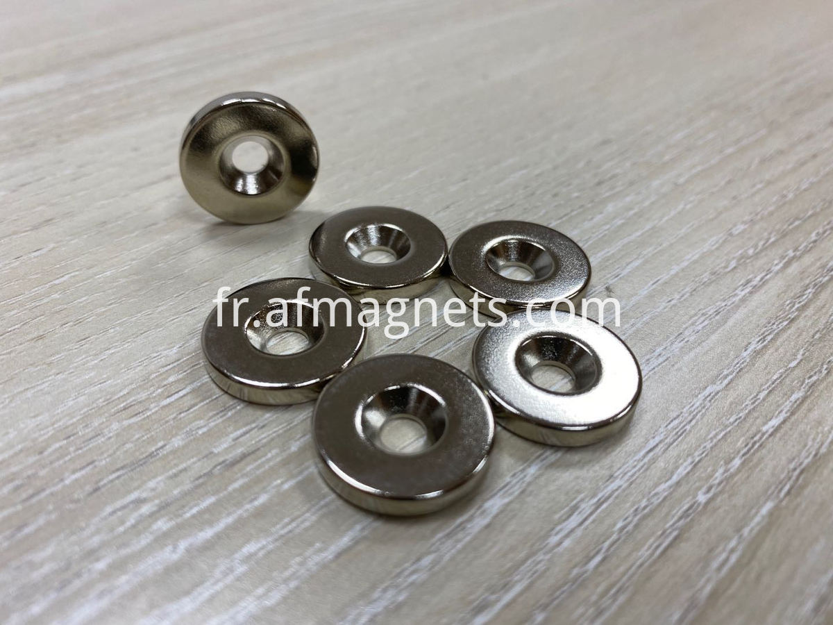 countersunk hole ring magnets
