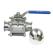 Válvula de esfera de aço inoxidável não retentor 3PC
