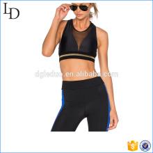 Черные простые лайкры йога одежда сексуальные женщины тренажерный зал одежда набор