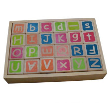 Preschool Toy Wooden Silk Screen Alphabet Blocks For Kids