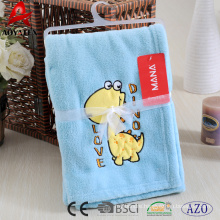 100% polyester microfiber animal printed coral fleece baby blanket