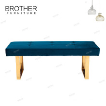 Modern fabric furniture metal legs bench sofa chair for waiting room