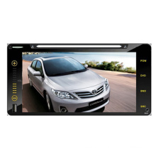 """2din carro DVD Player apto para Toyota Corolla Universal completo toque 6,95"""" RAV4 Hilux 200 * 100cm com rádio TV estéreo de Bluetooth GPS sistema de navegação"""