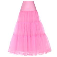 Grace Karin Women's Retro Crinoline Pink Underskirt Petticoat for Vintage Dress CL010421-5