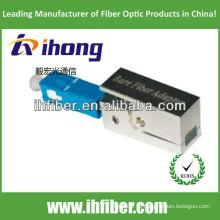Sc / pc adaptador de fibra nua tipo quadrado com caixa metálica