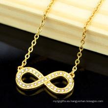 Último modelo Fashion Gold chain necklace Designs Collar de oro para mujer