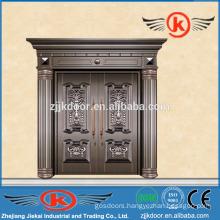 JK-C9023 exterior antique bronze copper main door for villa