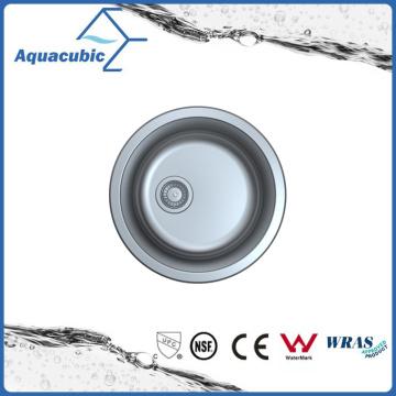 Pia de cozinha de aço inoxidável redonda de aço inoxidável (ACS2022M)