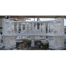 Antiker Gartenstuhl mit Steinmarmor Granit Kalkstein Sandstein (QTC068)