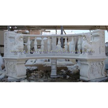 Silla de jardín antigua con la piedra arenisca de mármol de la piedra caliza del granito de piedra (QTC068)