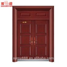 Feuille galvanisée de conception culturelle chinoise d'Anti-vol de sécurité de double porte d'entrée en acier