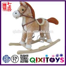 Hot sale plush toy kid rocking horse toy