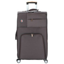 Soft Polyester 4 Wheels Built-in Trolley Luggage Case