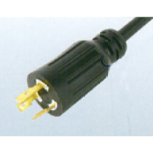 USA UL Verriegelung 3-poliges Kabel