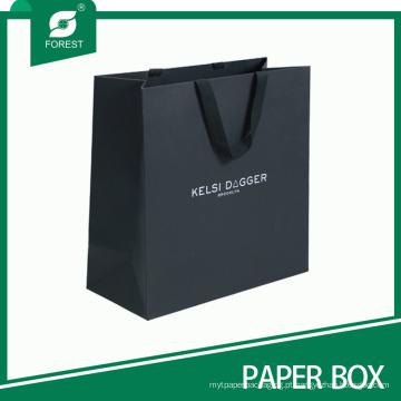 Venda quente boa qualidade personalizado saco de papel preto