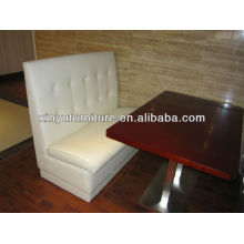 White faux leather booth sofa for restaurant XY0912