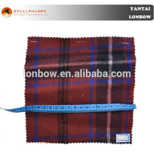 Trending tartan plaid 80% wool 20% nylon fabric for garment