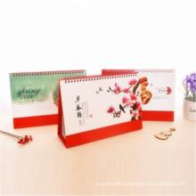 Four Colors Customized Table Calendar Desk Calendar Printing