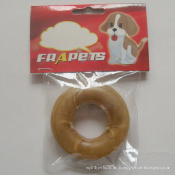 """Hundefutter 3 """"Natürlicher Rawhide Pressed Ring Dog Chew"""