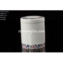 50g Hand-painted Morning Glory Tea Caddy, tea canister