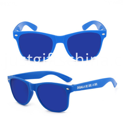 Promotional Retro Square Style Sunglasses Blue Color