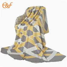 Cobertura de capa de algodão 100% costurada em jacquard personalizado
