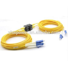 Atenuador de fibra óptica 3db ajustável em linha