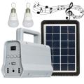 Mini sistema de iluminação por energia solar portátil