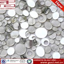 Китай производство кухонной стены смешанной стеклянной мозаики плитки в акрил