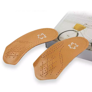 3/4 Leather Microfiber TPU arch menyokong Orthopedic Insole