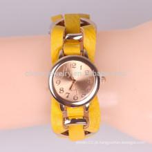 Hand-woven metal anel pulseira relógio de pulso relógios de imitação relógios BWL040