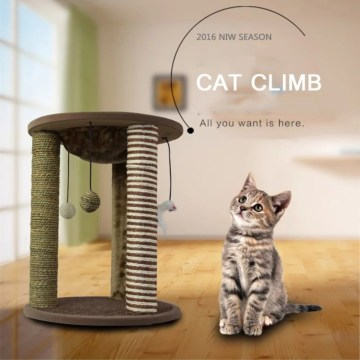 Small Cat Tree with Hanging Balls