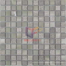 Brown Color Type Aluminium Mix Marble Mosaic (CFA75)